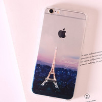Nice Eiffel Tower Silicone iPhone 7 se 5s 6 6s Plus creative case Cover + Gift box-113