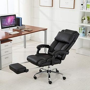 Most Ergonomic Pneumatic Computer Napping, Office Executive, PU Leather Reclining Chair