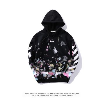 Best Deal Online Men's OFF-WHITE Fashion Hoodie Hooded Sweatshirt