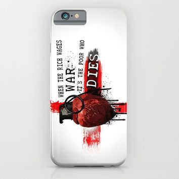 When The Rich Wages War... iPhone & iPod Case by Nicklas Gustafsson