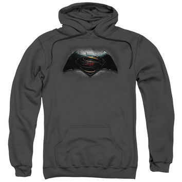 Batman V Superman Movie Logo Mens/Youth Charcoal Hoodie