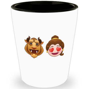 Beauty And The Beast Cute Shot Glass