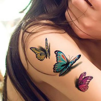 Tattoo Sticker Waterproof Temporary  3D Butterfly