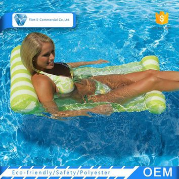 Outdoor Custom Portable Swimming Pool Lounge Inflatable Float Water Hammock