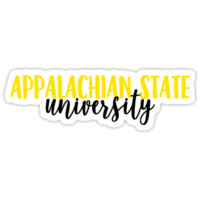 'Appalachian State University' Sticker by Caro Owens Designs