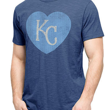 '47 Brand KC Royals Mens Fashion T-Shirt Heart Scrum