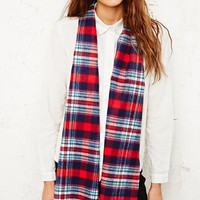 Tartan Scarf in Red and White at Urban Outfitters