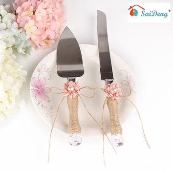 SaiDeng Rustic Wedding Cake Server Set