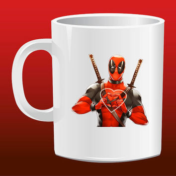 Deadpool Love Heart for Mug Design