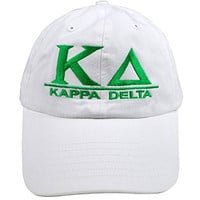 Kappa Delta World Famous Line Hat White