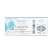 Wedding Boarding Pass to Mexico Announcements from Zazzle.com