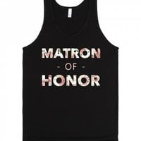Floral Matron of Honor (Wedding Party Group Shirts)