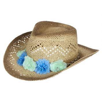CROCHET FLOWER COWBOY HAT | GIRLS HATS & HAIR ACCESSORIES | SHOP JUSTICE
