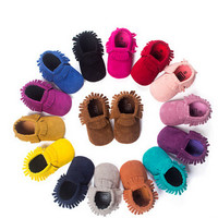 Suede Leather Newborn Baby Boy/Girl Baby Moccasins Non-slip Footwear Crib Shoe