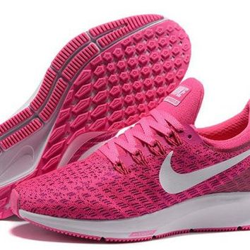 DCCKY4E Nike Air Zoom Pegasus 35 Vivid Pink & White Women's Trail Running Shoes