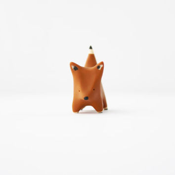 polymer clay fox totem fox figurine miniature animal
