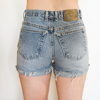 The London Jean High Waisted Shorts by TheOpSpot on Etsy