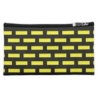 Wall Pattern Black and Yellow Makeup Bag