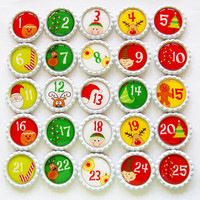 Magnets, Christmas Magnets, Countdown to Christmas, Set of Magnets, Holiday Decor, Christmas, Holiday Magnets, Advent Calendar, Under 50