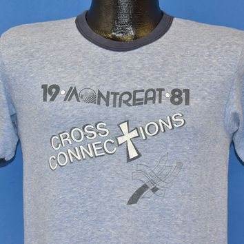80s Montreat Cross Connections 1981 t-shirt Small