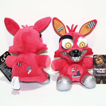 "Licensed cool 6"" Nightmare FOXY RED Fox Five Nights At Freddy's Plush Toy Funko Series 2 NEW"