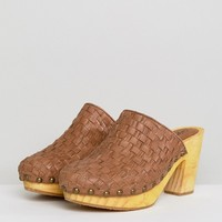 Free People Adelaide Woven Leather Clogs at asos.com