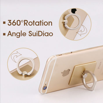 Fashion Mobile Phone Ring support mobile phone holder stent 360degree rotating bracket phone supports easy carry use convenient