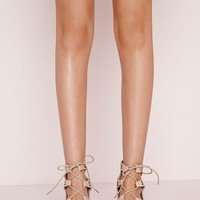 Missguided - Block Heel Gladiator Sandals Cream