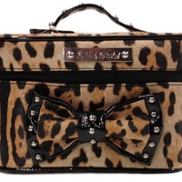 Gold Leopard Makeup Bag