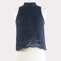 Mesh Applique Tank