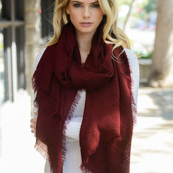 Frayed Woven Scarf