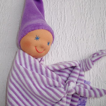 Waldorf Doll, Waldorf Baby Doll, Bunting Blanket doll for baby, Teether, Handmade