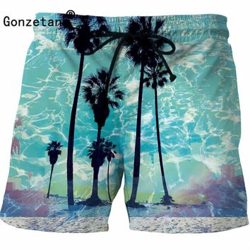 Gonzetank 2017 Sexy 3D Men Classic Print Shorts Men Boxers Cargo Shorts Men Beach Summer for Sweat Jogger Scenery Size M~5XL