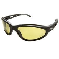 Edge Eyewear Dakura Polarized Black Frame w/Yellow Lens