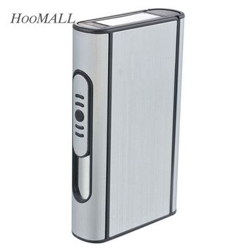 Pocket Cigarette Box Case Automatic Ejection Holder Metal Cigarette Box For 10 PCs Cigars Gift For Boyfriend/ Father