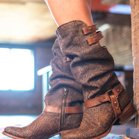 Women's Deer Slouch Harness Boots