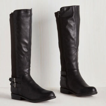Steampunk Meandering Standards Boot in Ink - Wide Calf