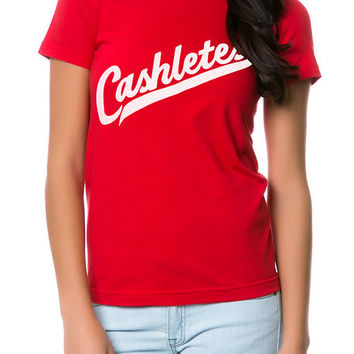 The Script Logo Tee in Red