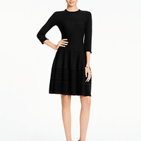Kate Spade Pointelle Sweater Dress Black