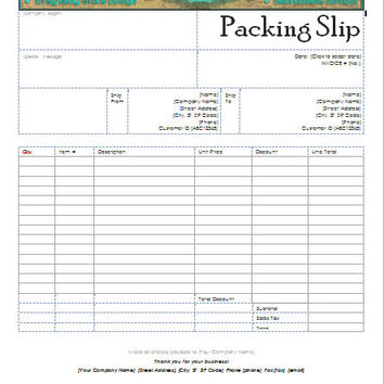 Custom Header Packing Slip for your Business! Use your Etsy Shop Banner! Professional Packing Slip Microsoft Word Compatible Edit Your Info