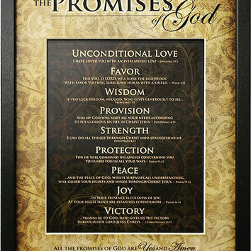 The Promises Of God 13x17 Framed Art