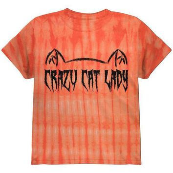 CREYCY8 Halloween Crazy Cat Lady Youth T Shirt