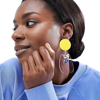 Candy Color Transparent Acrylic Dangle Earrings