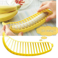 kitchen gadgets Banana Slicer Cutter /fruit vegetable tools Kitchen accessories Cooking Tools