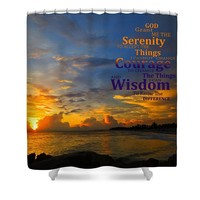 Serenity Prayer Sunset By Sharon Cummings Shower Curtain