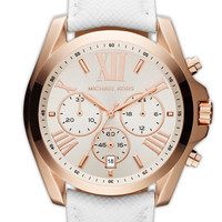 Michael Kors 'Bradshaw' Leather Strap Watch | Nordstrom