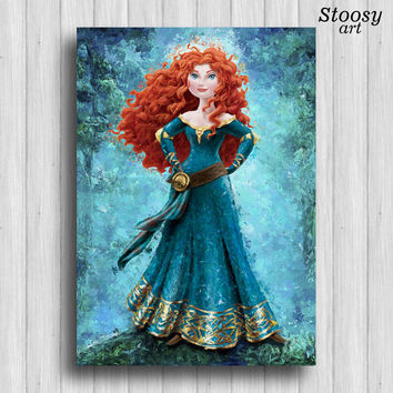 disney princess merida print be brave wall art