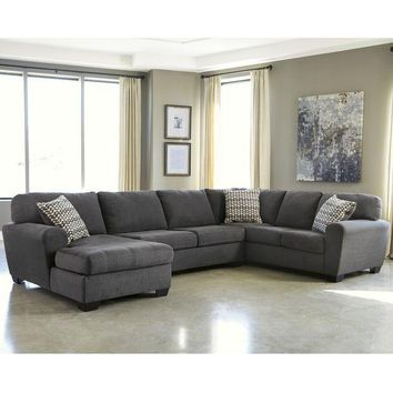 ICIKH0D Benchcraft Sorenton 3-Piece RAF Sofa Sectional in Fabric