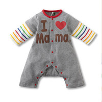 Baby winter clothes fashion spring newborn toddler baby girl clothes unisex costumes letter baby rompers jumpsuit