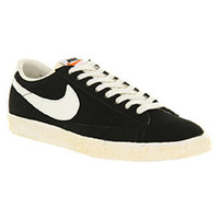 Nike BLAZER LOW VINTAGE BLACK SUEDE Shoes - Nike Trainers - Office Shoes